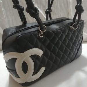 Brand New Chanel Cambon Lambskin Bowler Bag